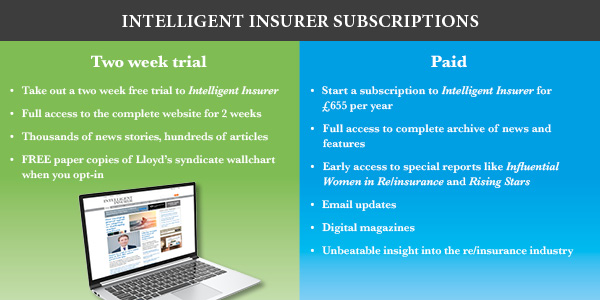 Start your Intelligent Insurer subscription today